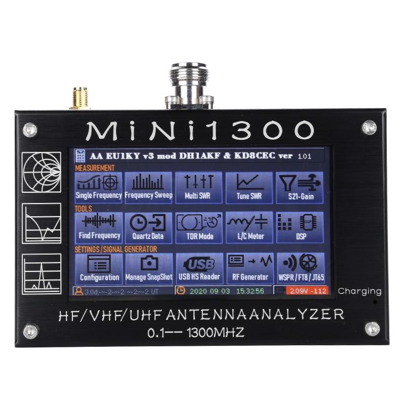 Новый Векторный анализатор сети Mini1300 0,1-1300 МГц HF VHF UHF Антенна тестер SWR измеритель частоты подметания радиочастотный мультиметр