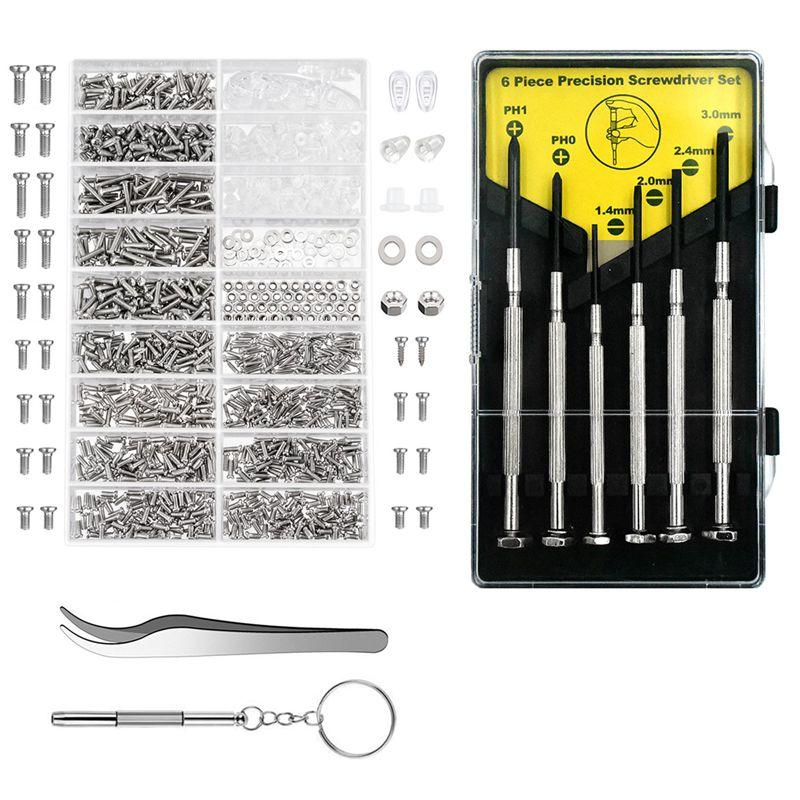 Eyeglass Repair Kit | Eyeglass Repair Kit Sunglasses Repair Kit With Nose Pads Screws Screwdriver Tweezers For Watch Clock Spectacle Repair