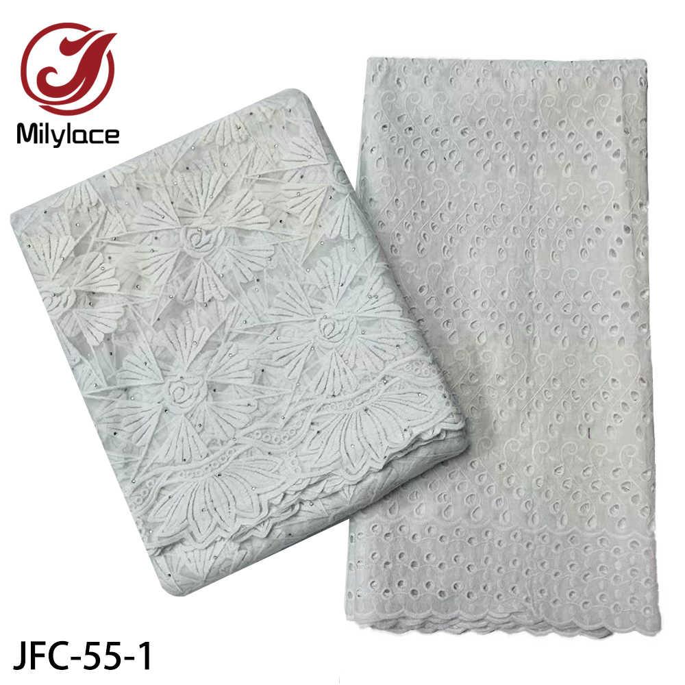Вышитая африканская сухая кружевная ткань, 100% хлопчатобумажные кружевные ткани, измельченная молочная сетчатая кружевная ткань с камнями, 2,5 + 2,5