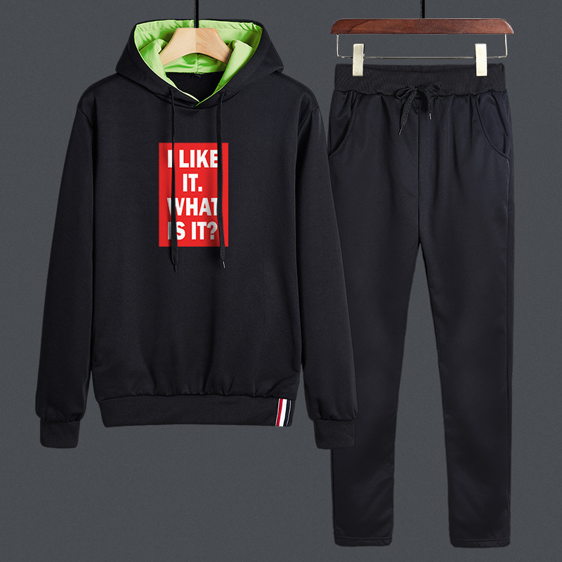 Spring And Autumn Hoodie Casual Sports Clothing Set Men's New Style Youth Going To Work Casual Students Coat