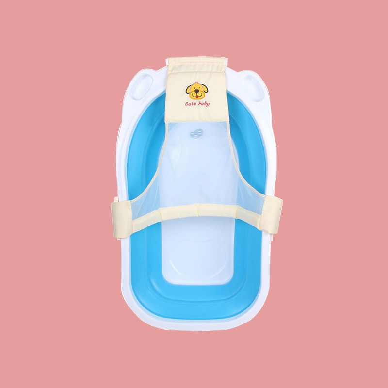Baby T-Shaped Bathtub Net Bathing Soft-Pillow Lying Fixable Non Slip Protector Newborn Seat-Mat Easy-To-Dry Foldable Safe Props
