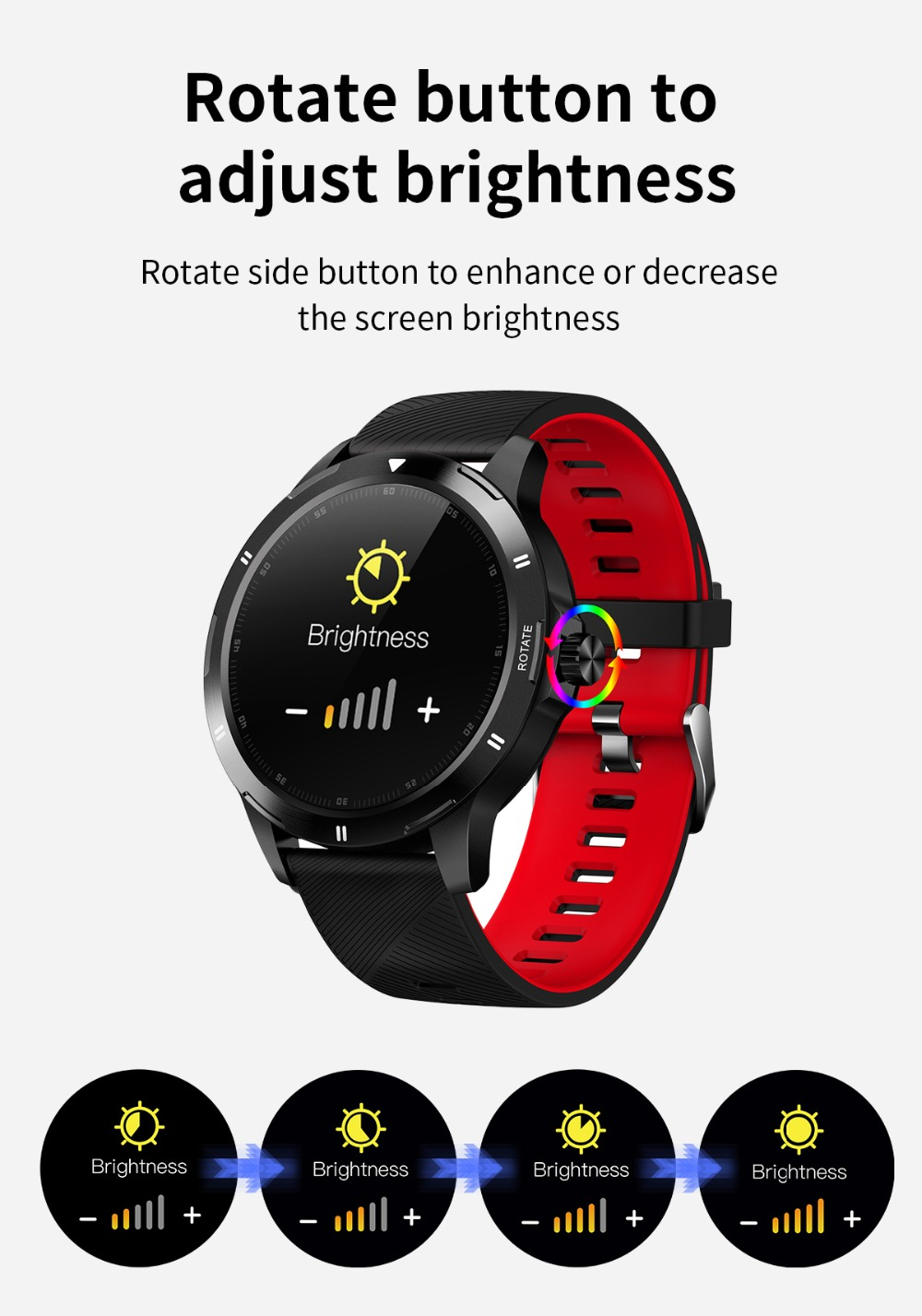K15 relógio inteligente masculino novo menu de