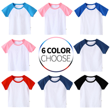 Boys T Shirt Summer Children Girls Clothing  Cotton  Short Sleeve T-shirt Kids  Casual Cute Toddler Tops Clothes for 2-8 Years стоимость