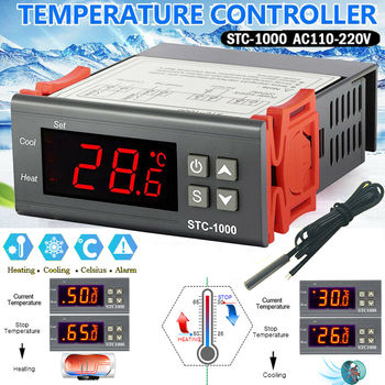 Digital Temperature Controller Thermostat Thermoregulator incubator Relay LED 10A Heating Cooling STC-1000 220V stc 1000 stc 3000 stc 3008 stc 3018 led digital temperature controller thermostat thermoregulator incubator 12v 24v 110v 220v