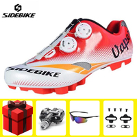 SIDEBIKE Cycling Shoes sapatilha ciclismo mtb add SPD pedal set Mountain Bike Auto lock Ultralight men Sneakers Athletic Riding|Cycling Shoes| |  -