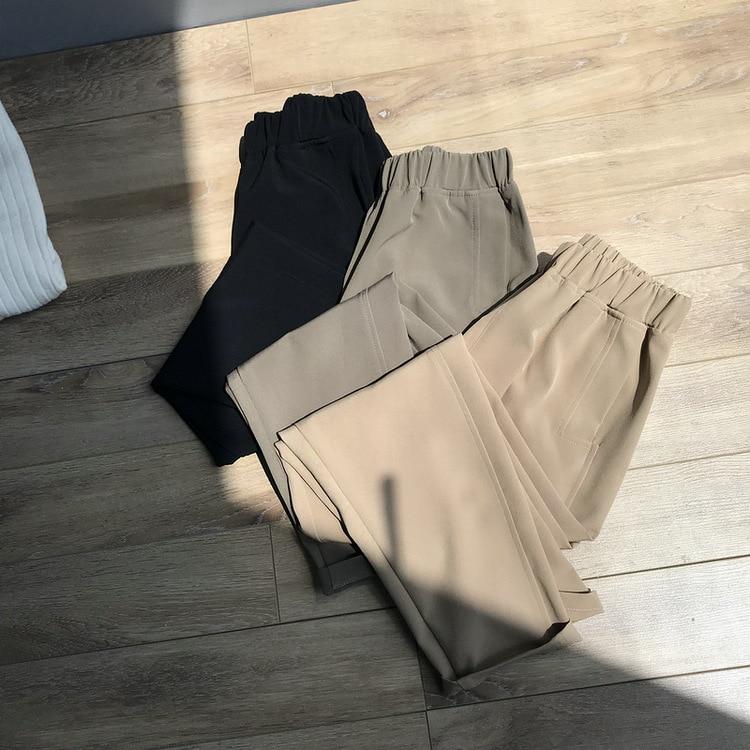 Mooirue Autumn Winter Women Pants Work Harajuku High Trousers High Waist Lady Pantalon Bottom