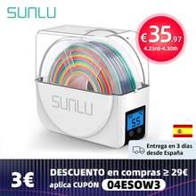 Sunlu 3d filamento caixa de secagem atividade apuramento espanhol filamentos frete grátis armazenamento titular fdm 3d filamento secador