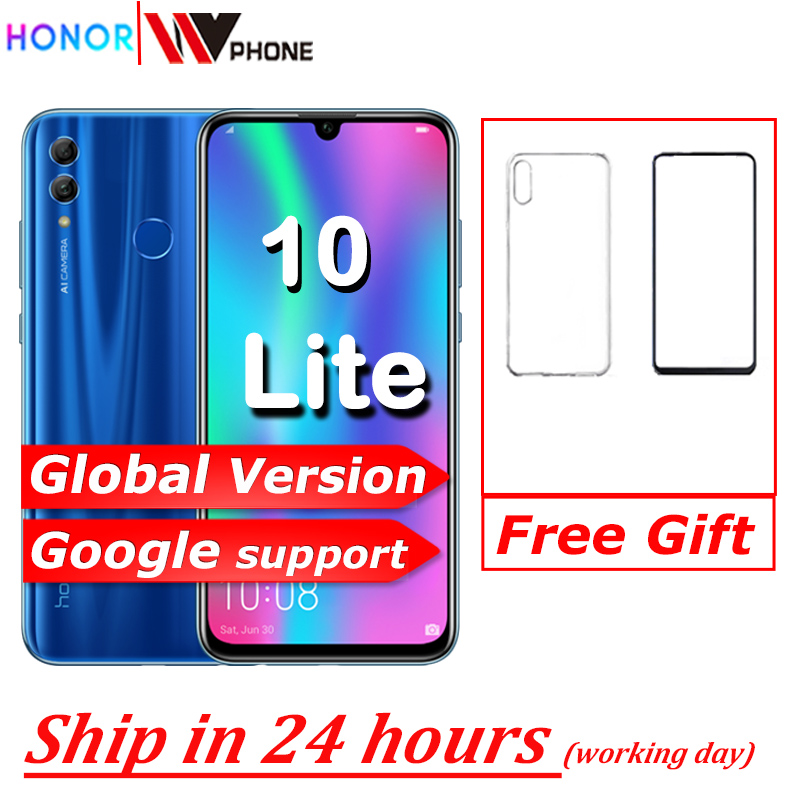 Honor 10 Lite Global Version MobilePhone 6.21 Inch 3400mAh Android 9 24MP Camera Smartphone With Google Play OTA Update