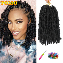 Crochet Hair Braiding Faux-Locs Pre-Looped-Bob Synthetic Hair-Extensions TOMO Distressed