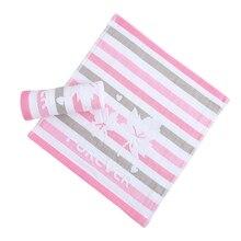 Милое детское полотенце, Мягкое хлопковое полосатое полотенце с принтом для лица, полотенце для купания для новорожденных