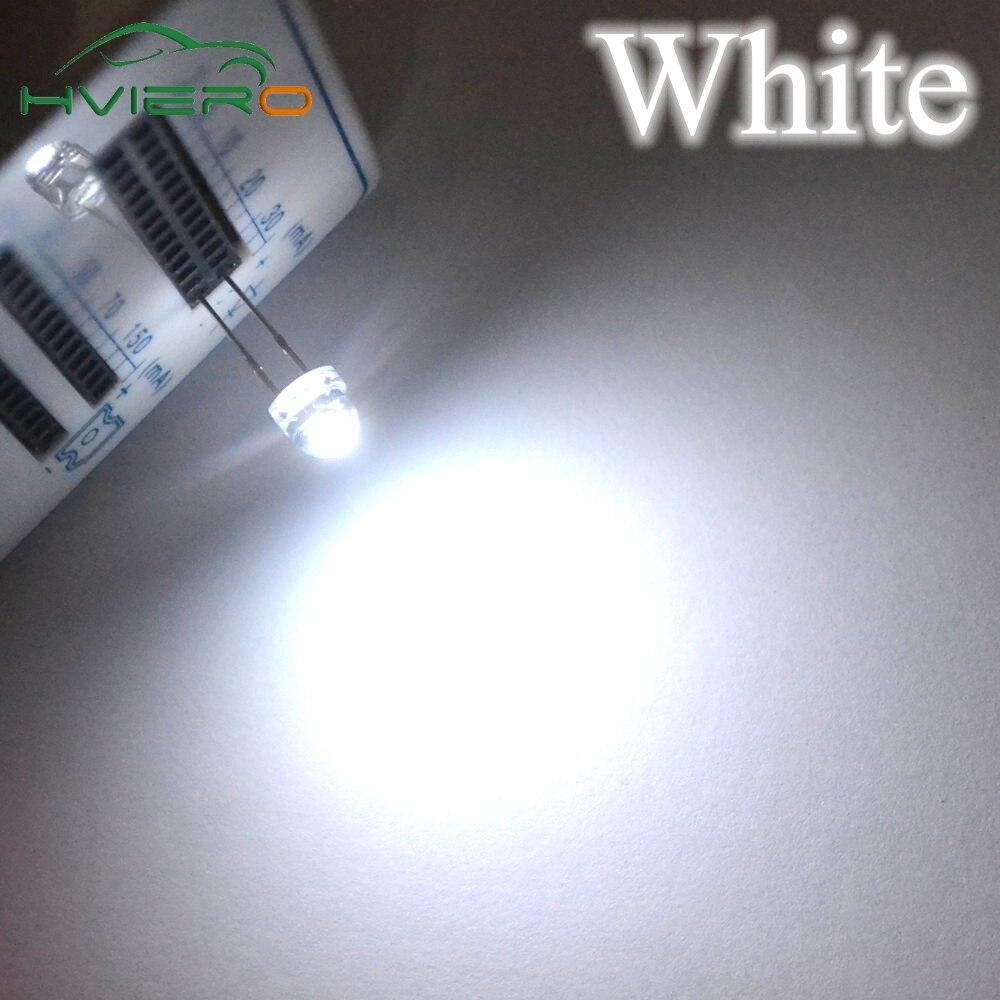 100PCS 5 mm Verde Redondo Alta Potencia Super Brillante Bombilla Lámpara LED LEDs Agua Clara