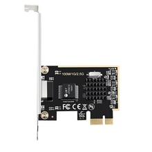 DIEWU Game PCIE card 2500Mbps Gigabit Network Card 2.5G RJ45 Network Adapter PCIe1X lan Card with Realtek8125