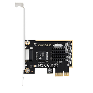 Image 1 - DIEWU Game PCIE card 2500Mbps Gigabit Network Card 2.5G RJ45 Network Adapter PCIe1X lan Card with Realtek8125