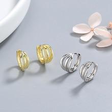 ANENJERY – boucles d'oreilles en argent Sterling 925, créoles à trois couches torsadées avec petites boucles d'oreilles pour bijoux de fête