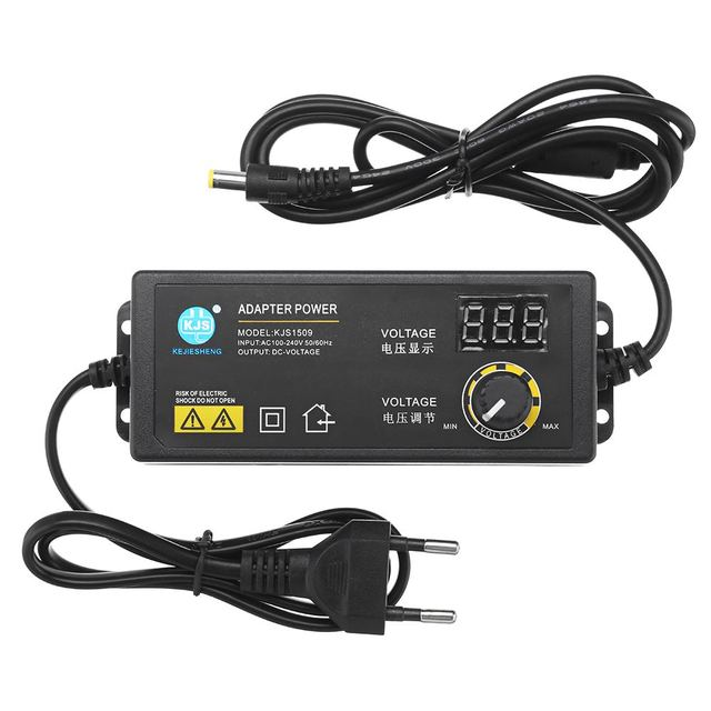 CLAITE KJS 1509 3 12V 5A Power Adapter AC/DC Adapter Adjustable Voltage Adapter LED Display Switching Power Supply