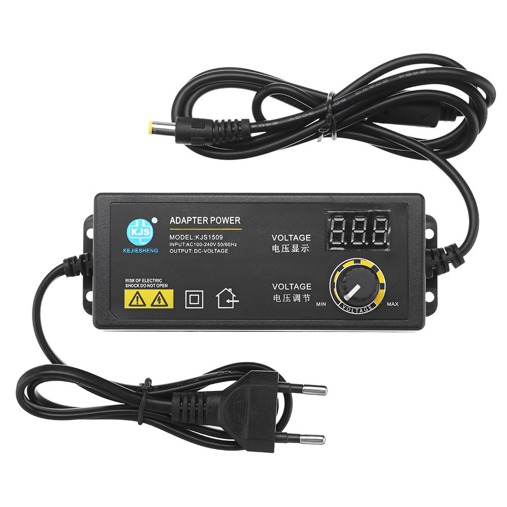 CLAITE KJS-1509 3-<font><b>12V</b></font> 5A Power Adapter AC/DC Adapter Einstellbare Spannung Adapter <font><b>Led</b></font>-anzeige Schalt Power versorgung image