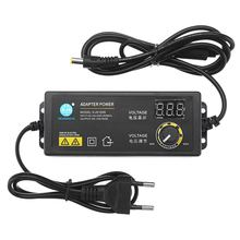 CLAITE adaptateur électrique, adaptateur électrique 3 12V 5A, adaptateur de tension réglable, affichage, commutation dalimentation