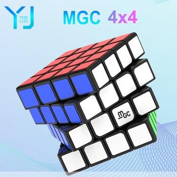 YJ MGC 4x4 Magnetic Magic-Cube YongJun mac 4 M 4M 4x4x4 Professional Speed Cube Puzzle Yongjun Magico Cubo Educational Toys for yongjun mirror 2x2x2 magic cube yj 2x2 professional speed puzzle antistress educational toys for children