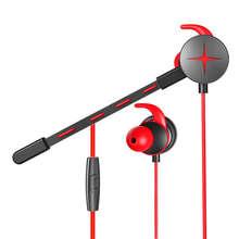 Gaming Earphone Hammerhead V2 Pro With Mic 3.5Mm Y Splitter Microphone In-Ear Gaming Earphones For Mobile Phone ear force xo7 xo seven pro microphone for turtle beach gaming headsets xp7 z7 m7 sierra