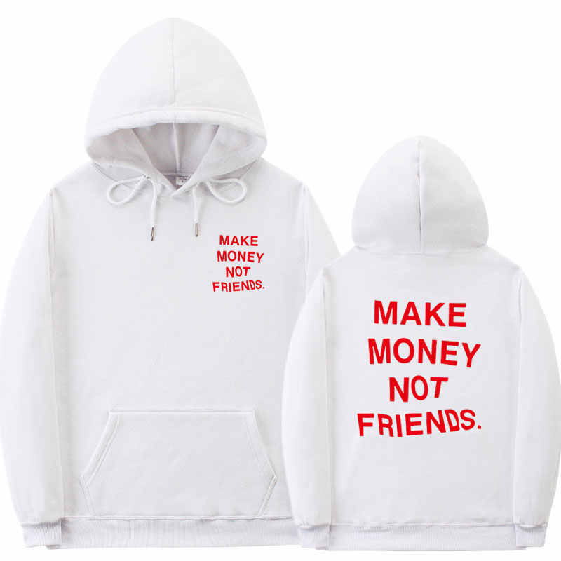 Moda уличная одежда zarabiaj pieniâdze nie przyjaciele bluza z kapturem mêzyczyźni para odzież pomarachenczowa bluza z kapturem sudadera