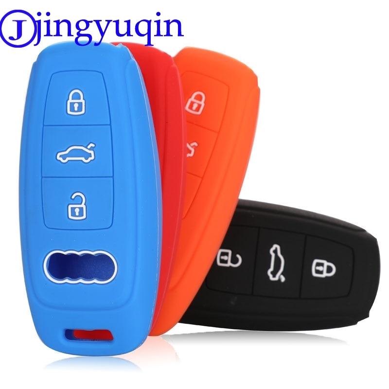 Jingyuqin Remote 3B Car Key Case Cover For Audi A6L A7 A8 C8 Q8 D5 2018 2019 Silicone Smart Key