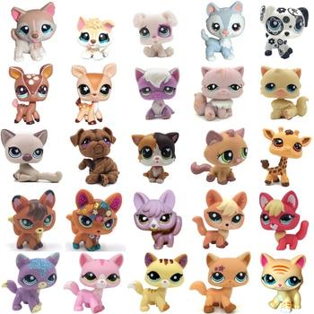LPS CAT Rare Pet Shop Toys Stands Short Hair Cat Original Kitten Husky Puppy Dog Fox Cute Animal Old Collection Figures