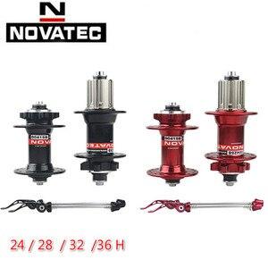 Novatec Hub D041SB D042SB MTB Disc Brake Hub 6 Bolts Mountain Bike Hub Bearing Bicycle Hubs 24 28 32 36 Holes 8/9/10/ Speed
