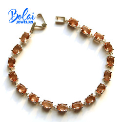 Bolai ,color change zultanite oval shape bracelet created gemstone fine jewelry 925 sterling silver fashion accessories for lady