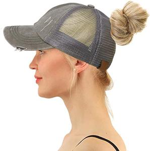 Criss Cross Ponytail Hats Women's Baseball Caps Dad Hat Ponytail Messy Bun Trucker cap