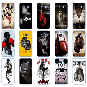 50DD Muay Thai Fight Boxing Soft Silicone Cover Case for Samsung Galaxy S6 S7 edge S8 S9 S10 plus A70 A50 case(China)