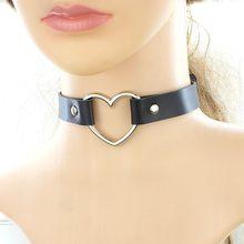 2021 charme feminino gargantilha na moda aço inoxidável coração gargantilhas colares fivela de couro cinto jóias para mulher maxi colar