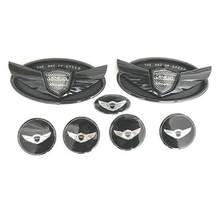 7 sztuk/zestaw emblematy 3D emblematy przód + tył + kierownice na lata 2010-2015 GENESIS COUPE Car Styling