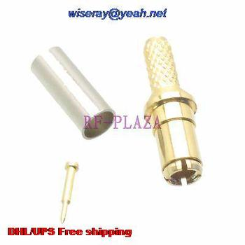 DHL/EMS 200pcs Connector TS9 male plug crimp RG174 RG316 LMR100 cable Straight Gold -A3