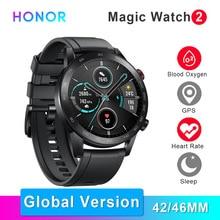 """Huawei社の名誉マジック2スマートウォッチ5ATM防水スマートウォッチ心拍数酸素吸気モニター1.39 """"amoledスポーツgpsスマート腕時計"""