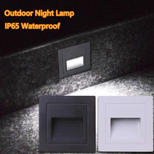 Square 3W IP65 LED Stair Light Step Light Recessed buried lamp indoor/ outdoor Waterproof Staircase Step lights AC85-265V
