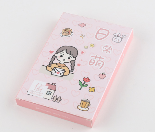 Lovely Girl Paper Postcard(1pack=30pieces)