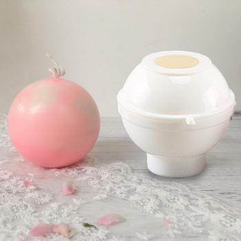 Molde para velas DIY, molde de plástico para velas, molde esférico para hacer velas para tarta, Chocolate, arcilla, molde artístico
