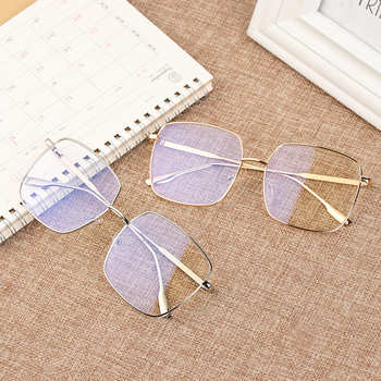 Square Clear Glasses Women Oversized Eyewear Spectacle Frames Transparent Oculos Eyeglasses Fake Korean Fashion 2020 New
