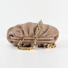 2020 New Fashion Women PU Leather Handbag High Quality Thick  Chain Cloud Dumplings Clutch Bag Female Shoulde Bags