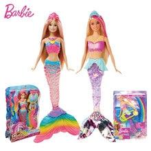 Original barbie rainbow lights all mermaid dolls feature mermaid barbie dolls Christmas birthday present DHC40 GFL82 girl Toys