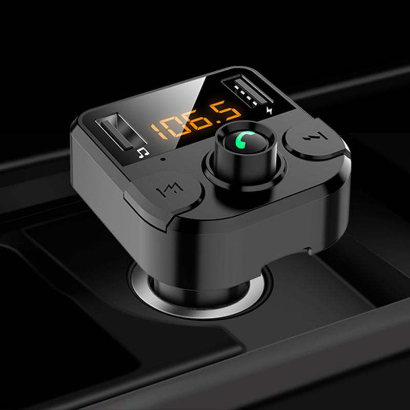 USB car MP3 Player LCD Digital Voltmeter TF Card U disk AUX Player Bluetooth 5.0 Car FM Transmitter 3.1A Quick Dual