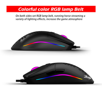 Newest 16000 DPI PMW3389 Gaming Mouse RGB Marquee Belt 7 Button Laser Mice 1.8m USB Wired Gamer Mouse For Laptop Computer PC 3