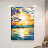 Abstract Bright Colour Blocks Canvas Art Modern Painting For Living Room Aisle Entrance Fashion Artistic Wall Decor oil painting