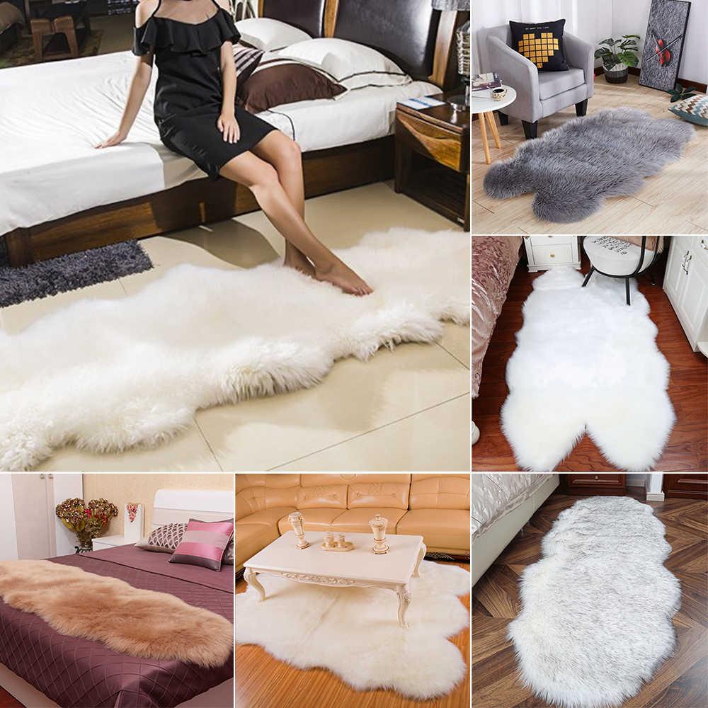 Warme Teppiche Boden Matte Pad Haut Pelz Teppiche Weiche Faux Schaffell Teppich Teppiche Für Home Wohnzimmer Schlafzimmer Fußmatten faux Pelz Teppich