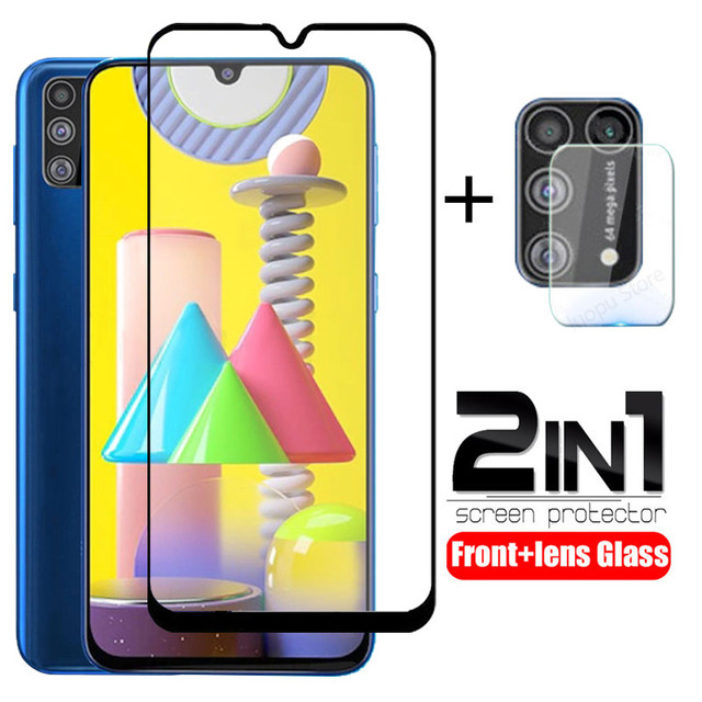 2 in 1 camera lens protective glass for samsung galaxy m31 m30 s m51 m21 m11 m12  screen tempered glass for samsung m30 m31 m21s 1