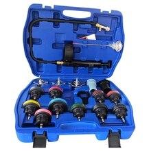 18 Pcs Wasser Tank Leck Tester Automotive Wasser Tank Erkennung Werkzeug Frostschutz Kühlmittel Ersatz Füllstoff mit Manometer