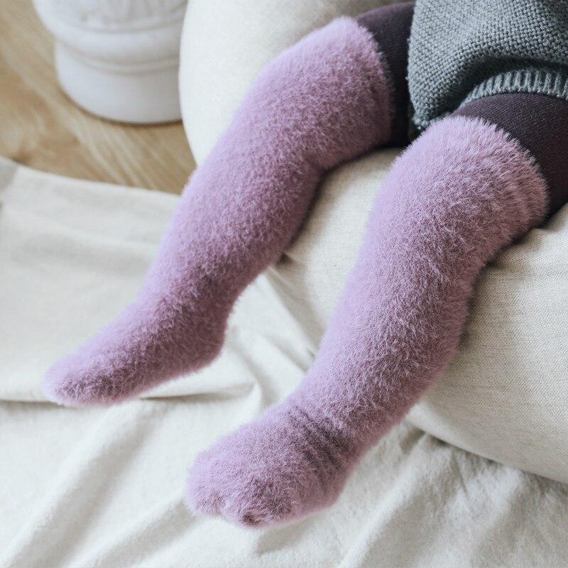 260.0¥ 33% OFF|暖かいベビーソックス厚手の新生児ガールボーイ冬の靴下キッズ子供幼児幼児ハイソックスロ...