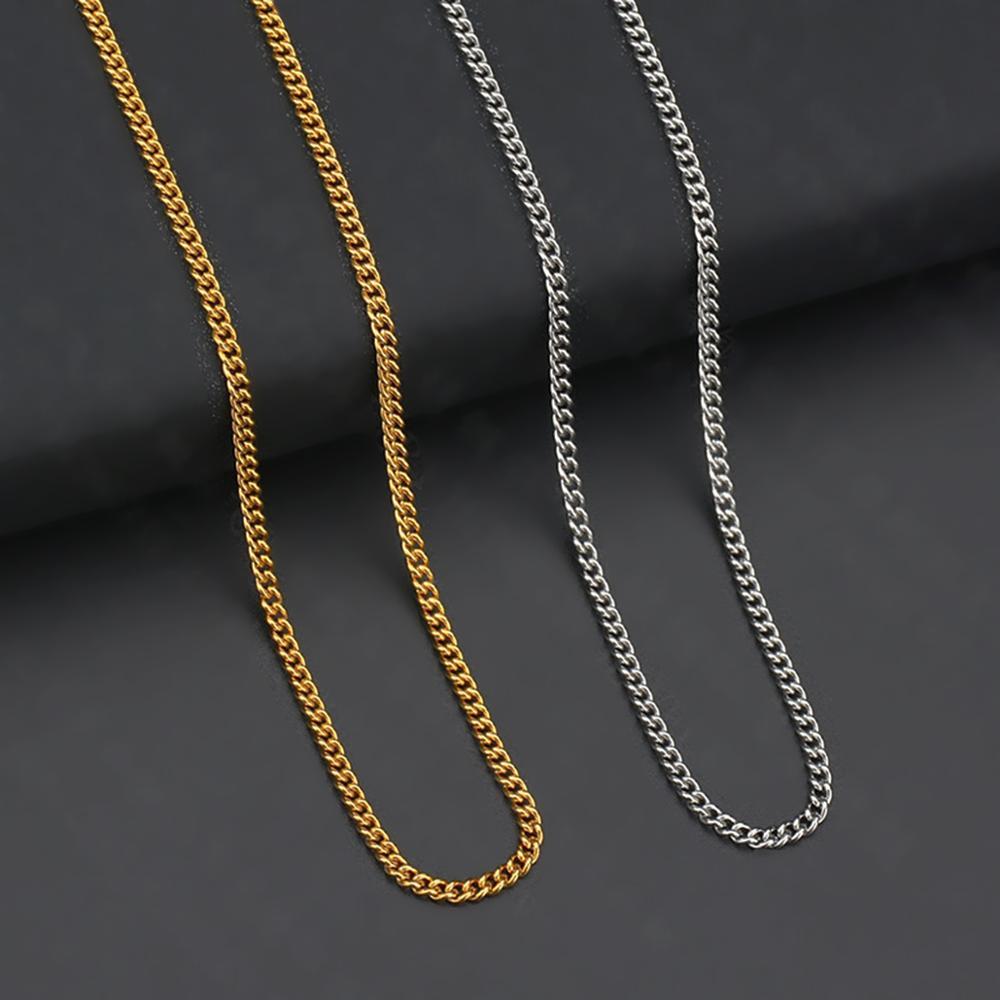 Atacado 10 pçs/lote Básica Colar Cadeia 1.5mm/2mm Ouro/Aço Elo Da Cadeia do Aço Inoxidável Colares Para As Mulheres Jóias