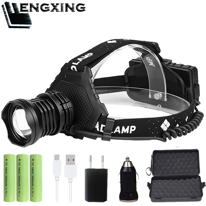 High Power XHP90.2 Led Headlamp Lantern Comping Lamp Zoomable Torches USB Headlight 8000mAh 18650 Battery Brighter Than Xhp70.2