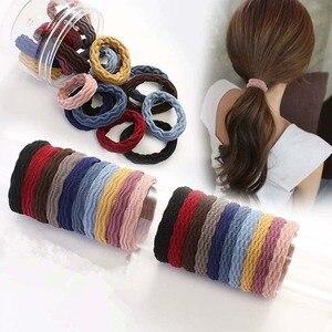 20 pcs/bag 5CM Hair Accessories Women Rubber Bands Scrunchies Elastic Hair Bands Girls Headband Decorations Ties Gum for Hair